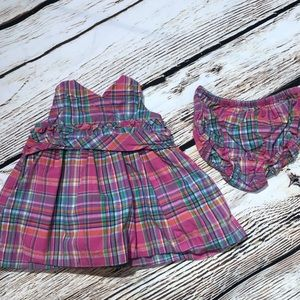 Chaos plaid dress and bloomers